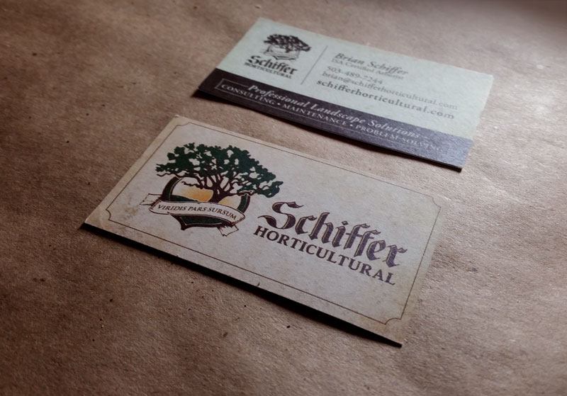 Schiffer Horticultural Business Cards - Horticultural Logo