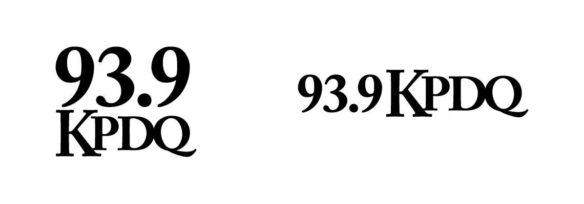 93.9 KPDQ - Radio Station Logo Redesign