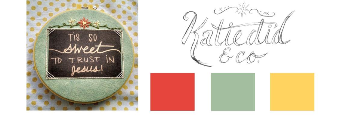 Katiedid & Co Sketch & Palette - Hand-lettered Logo
