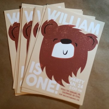 Bear Birthday Invites
